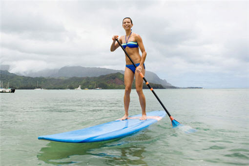 Woman Paddleboarding